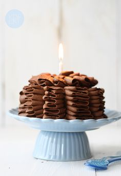 Pastel de calabacin (Ruffle cake)