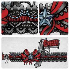 Garter Leg Tattoo Design by Sam-Phillips-NZ.deviantart.com on @deviantART