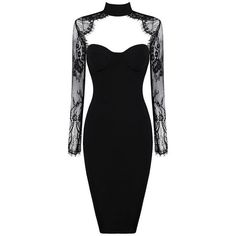 Roslyn Black Lace Bodycon Plus Size Dress ($238) ❤ liked on Polyvore featuring dresses, sexy plus size dresses, sexy lace dresses, sexy plus size cocktail dresses, sexy bodycon dresses and little black cocktail dresses