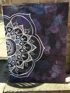 Large Canvas Mandala Painting by TheCrimsonCollection on Etsy