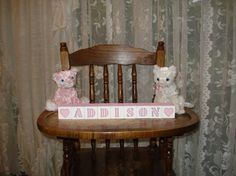 Baby Name Blocks Addison Baby Pink free shipping by woodblocks4you, $25.95