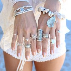 Rings - boho bohemian hippie gypsy jewelry set. For more follow www.pinterest.com/ninayay and stay positively #pinspired #pinspire @ninayay