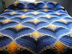Bargello Flame Quilt Pattern Amish Made Hand Quilted