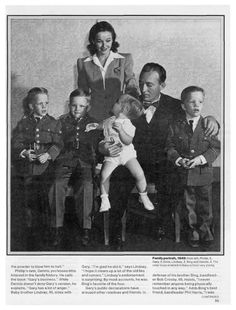 Bing and his boys child abuse kids amp family life bing crosby