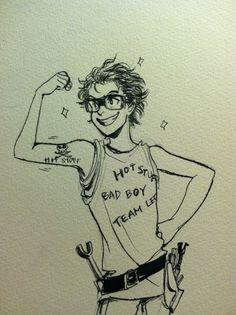 "minuiko:  ""Scrawny? Baby, I invented scrawny. Scrawny is the new sizzling hot!"" - Leo Valdez, Mark of Athena"