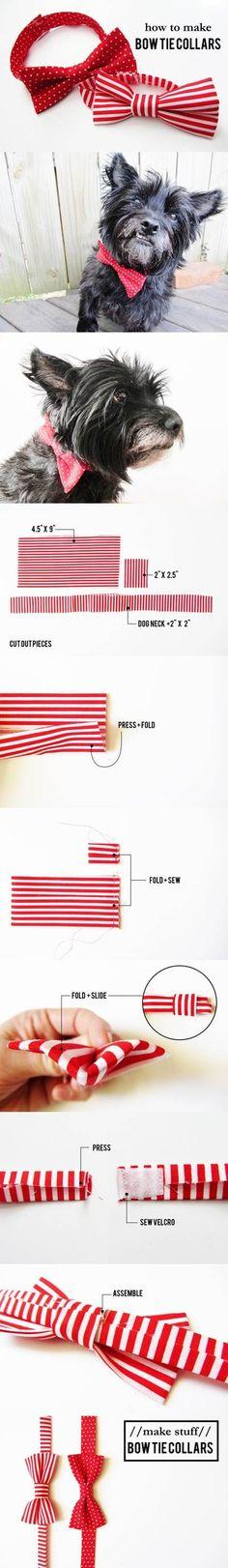 DIY Valentines Day Bow Tie Dog Collars 2