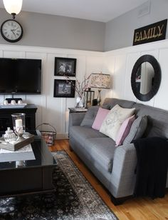 Going Grey with a touch of pink.. - eclectic - family room - other metros - Seaside Interiors