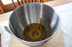 cocoa butter, coconut oil + essential oils.  Melt, refridge, whip