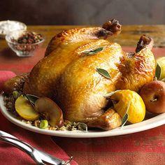 Apple-Glazed Roast Chicken