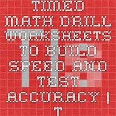 math worksheet : timed math drill worksheets to build speed and test accuracy  : Tls Books Worksheets Math