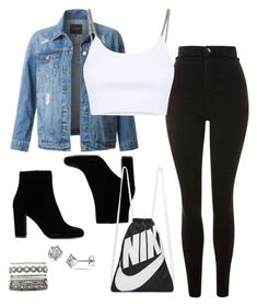 """""""Untitled #342"""" by xolafkax on Polyvore featuring Topshop, LE3NO, Alexander Wang, NIKE and Charlotte Russe"""