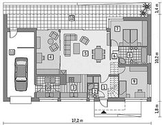 Projekt domu Murator C365h Przejrzysty - wariant VIII 91,6 m2 - koszt budowy 239 tys. zł - EXTRADOM Planer, Floor Plans, How To Plan, House, Home Plans, Home, Haus, Floor Plan Drawing, Houses