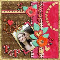 Digital scrapbooking page   scrapbook layout ideas   Kate Hadfield Designs Creative Team scrapbook page by Karen