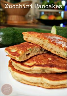 My family is in love with these Zucchini Pancakes, or any pancake for that matter. If you ask them what they want for breakfast, it will be pancakes first, then eggs as a close second. I had some extra zucchini from the garden today...gluten