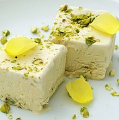 Coffee and pistachio parfait