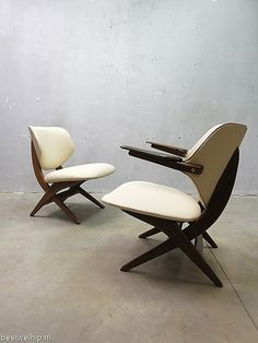 Mid century armchair lounge chairs Dutch design 'Pelican chair' Webe Louis van Teeffelen | Bestwelhip