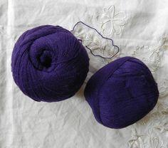 e99a0519e24 50g česaná kašmírová příze lilkově fialová   Zboží prodejce Katrincola yarn