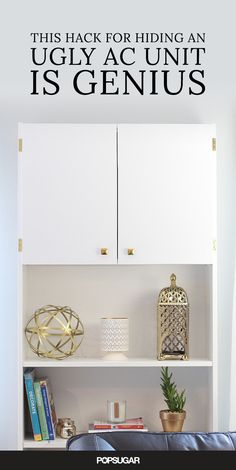 If you have a love-hate relationship with your wall-unit AC, this clever camouflaging tip will change your life.