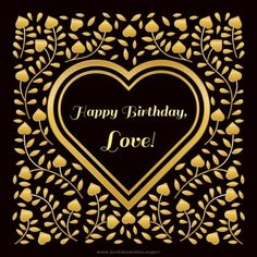 Romantic birthday wish for my wife on beautiful golden love background.
