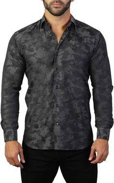 online shopping for Maceoo Fibonacci Armee Regular Fit Sport Shirt from top store. See new offer for Maceoo Fibonacci Armee Regular Fit Sport Shirt Camisa Rock, Floral Shirt Dress, Wide Leg Denim, Fashion Night, Skinny Fit Jeans, Sports Shirts, Mens Clothing Styles, Workout Shirts, Shirt Style