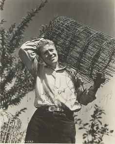 "Farm/Orchard Scrapbook: Original, vintage, autographed photo of Nelson Eddy with inscription: "" To William J. Creagh, with best wishes, Nelson Eddy, March 1943."" - ESCANO COLLECTION"