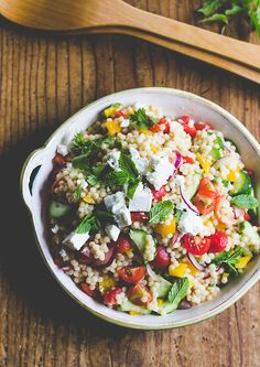 summer vegetable couscous salad | The Clever Carrot
