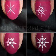 "2,796 Likes, 1 Comments - МАСТЕР КЛАССЫ (video, foto MK) (@masterclass_nailartclub) on Instagram: ""#Repost @marinaart_nail_studio ・・・ МК Простая снежинка! 🔸гель краска без липкого слоя Neonail…"""