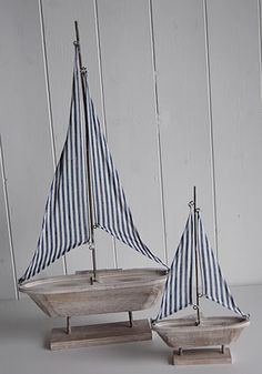 Wooden decorative yachts - The White Lighthouse