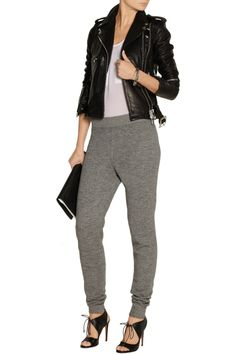 T by Alexander WangCotton-blend fleece track pantsoutfit