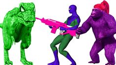 Spider Dinosaur Vs Spiderman | Spiderman Vs Gorilla | Gorilla Vs Spiderman | Spiderman Finger Family http://youtu.be/904WxIUJa6M