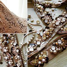 Ir kleita, būs jostiņa.. making details for dresses.. #process #belt #detailsfordress #luxury #unique #madewithlove #gizadesign