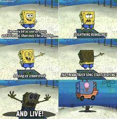 Livin' like Larry spongebob Funny Spongebob Memes, Funny Relatable Memes, Funny Jokes, Hilarious, Really Funny Memes, Stupid Memes, Funny Stuff, Funny Things, Random Stuff