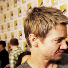 Jeremy Renner. This man has one of the cutest laughs, I swear.