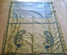 Kutch work hand embroidery done on a saree