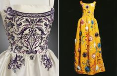 Dresses made with Lesage embroidery