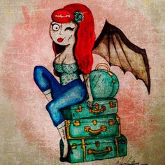Nickie von cherry goes on vacation on Etsy, $5.00