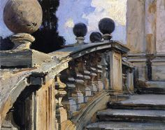 John Singer Sargent. Speaking earlier of faulty banisters as an analogy for liars. They summon you up and promise the way is safe, but when you lean against the banister you realize it was never fastened to the stairway, it only appeared to be secured,  and you fall.