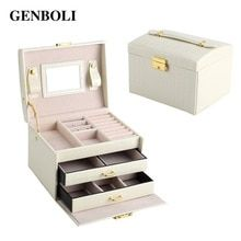 White Crocodile Leather Jewelry/Makeup Case White Jewellery Case Leather Crocodile Grain 2 Layers Jewelry Packaging Box Makeup Case Necklace Organizer Container Boxes Description NO. Jewelry Storage Solutions, Jewellery Storage, Jewelry Organization, Jewelry Box Plans, Girls Jewelry Box, Packaging Box, Jewelry Packaging, Leather Jewelry Box, Wooden Jewelry