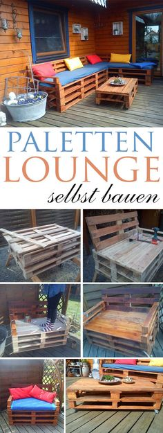 Paletten-Couch selber bauen | Pinterest | Pallets, Room and Upcycling