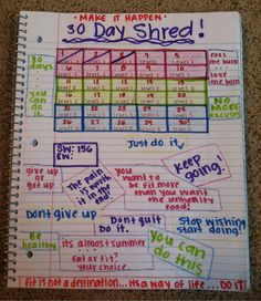 """goodbyecarbs-helloskinny: I made this after I finished day 3 of the 30 day shred! I've had a fitblr for a few weeks now and love it, so I decided to share a little bit about myself. I am 17 years old, 5'7, and 156lbs. I don't really have a goal weight.. Which is why my """"ending weight"""" is blank cause I don't really care where I end up. My goal is to lose my stomach, hip, and thigh fat and replace it with muscle. Starting a fitblr was the best thing I ever did because not onl"""