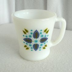 Fire-King Alpine Swiss Chalet Coffee Mug. $10.00, via Etsy.