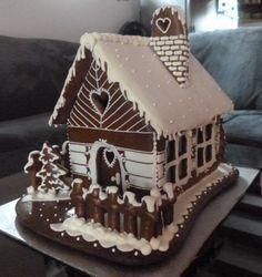 Perníková chalúpka Gingerbread Village, Gingerbread Decorations, Christmas Gingerbread House, Gingerbread Cookies, Christmas Deserts, Christmas Baking, Christmas Cookies, Cookie House, Fancy Cookies