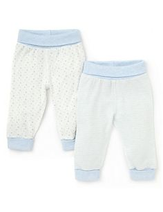 2 Pack Cotton Rich Striped & Star Joggers Clothing