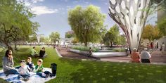 Planned Redesign of Margaret T. Hance Park, - Arrival Plaza - Phoenix, AZ