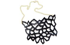 Imaginer Leather Cutout Necklace