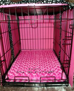 Dog Crate Pad - Memory Foam - X-Small to Medium Sizes - Dogs - Pets - Includes Embroidered Personalization Dog Crate Pads, Dog Crate Cover, Beach Hacks, Medium Sized Dogs, Pet Cage, Pink Bedding, Cool Rooms, Etsy Handmade, Memory Foam