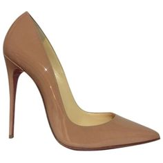Pre-owned Christian Louboutin So Kate Nude Pumps ($757) ❤ liked on Polyvore featuring shoes, pumps, nude, christian louboutin shoes, christian louboutin pumps, i love shoes, stilettos shoes and nude shoes