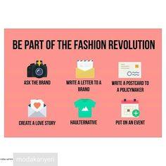@Regrann from @modakariyeri -  Fashion Revolution haftası bugün başlıyor! Her sene 24 Nisan'da Bangladeş'teki Rana Plaza fabrikasının çöktüğü günde başlayan bu hafta süresince moda sektöründe dönüşüme öncülük etmek ve moda sektörünün insan gücünü ve dünyanın kaynaklarını bilinçsiz ve saygısızca kullanmasına son vermek amaçlanıyor. Moda sektörünün sürdürülebilirlik sorunu ile ilgili yazılarımızı bio'daki linkten okuyabilirsiniz. Ayrıca siz de Fashion Revolution hareketini takip edebilirsiniz…