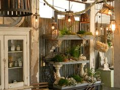 garden/potting shed display