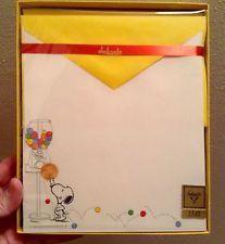 $61 Vintage Hallmark Ambassador Snoopy Peanuts Stationary Paper Envelopes 1980s